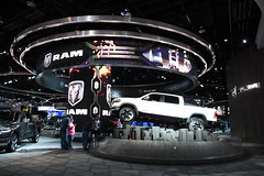 Ram truck exhibit -- 2018 North American International Auto Show (Corvair Owner) Tags: north american international auto show detroit michigan mi mich new car display automobile truck suv crossover manufacturer january 2018 cobo arena hall center winter dodge ram chrysler fiat
