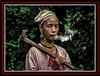 Karen Tribes Woman with ax smoking Northern_Thailand (BELZ'S WORLD) Tags: in the akhavillage northernthailand