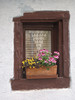 Flowers Bavarian Style (PDX Bailey) Tags: flowers wall nuremberg germany europe window reflection box sill yellow red stucco plaster curtain
