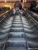 ... (Jean S..) Tags: escalator indoors man candid streetphotography stairs bag reflection