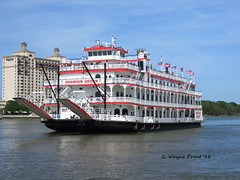 Georgia Queen Riverboat (Gerald (Wayne) Prout) Tags: georgiaqueenriverboat savannahriver cityofsavannah georgia usa chathamcounty prout geraldwayneprout canon canonpowershotsx60hs powershot sx60 hs digital camera photographed photography boats riverboats paddlewheelers georgiaqueen cruises river water stateofgeorgia watercraft boat