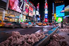 Times Square - New York (DerHarlekin) Tags: timesquare snow newyorkcity winter big city cityscape grosstadt verkehr nightlife traffic usa america north