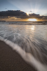 Slice (Peter Henry Photography) Tags: sea water waves light sunlight sunset parton beach shore coast tide