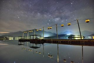 日月潭~蔣公碼頭銀河星空~ Milkyway above Sun moon lake