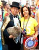 Dr. Takeshi Yamada and Seara (Coney Island sea rabbit). Brooklyn, New York.     20160626Sun Gay Pride Parade. DSCN7072=p3540C2 (searabbit29) Tags: takeshiyamada fineartexhibitions museumcollections famous japanese japaneseamerican artist osaka tokyo japan tv painting sculpture photography graphicdesign sideshow freakshow banner gaff performance fashiondesign fashion tophat jabot jewelrydesign victorian gothic goth steampunk dieselpunk fashiondesigner playboy bikini roguetaxidermist roguetaxidermy taxidermist taxidermy specialeffect cabinetofcuriosities dimemuseum seara searabbit coneyisland mythiccreature cryptozoology cryptid brooklyn newyorkcity nyc newyork