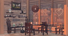 Lovely Working Area (Haruka Catteneo) Tags: moonsha pr pukerainbows halfdeer applefall home furniture sunset harukacatteneo secondlife sl