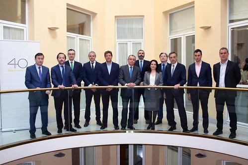 Comité de Dirección de Hidraqua reunido en la CEV