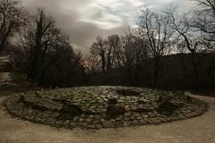 Dolmen de l'ubac (labeanch) Tags: sony night nuit nuages clouds ciel sky sepulture dolmen lubac goult lune moon monument longueexposition light lumière arbre tree