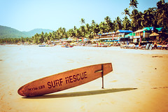 On Edge (iratebadger) Tags: nikon nikond7100 beach beachlife surf surfboard lifeguard palolem india asia goa palmtrees sand trees vintage colours holiday iratebadger