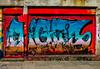Shutter Tags (Steve Taylor (Photography)) Tags: ec graffiti streetart tag shop colourful uk gb england greatbritain unitedkingdom london outline shutter
