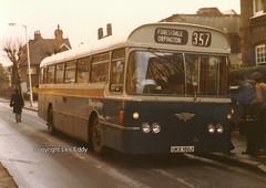 UKX150J, Altyre Road, Croydon, March 1982 (aecregent) Tags: croydon march1982 altyreroad tillingbourne aec paxton ukx150j 357