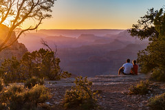A sunset to remember. (Clint Everett) Tags: sunset landscape grandcanyon arizona nationalparks nationalpark couple travel romantic view expansive timeless canyon nature