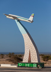 Plane statue at the entrance of the airport, North-Western province, Berbera, Somaliland (Eric Lafforgue) Tags: aeroplane africa airvehicle airport art barbara berbera developingcountry eastafrica economy financeandeconomy fulllength hornofafrica nopeople plane sky soma3811 somalia somaliland statue technology tourism transportation travel vertical northwesternprovince