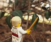 Hacking Through the Underbrush (gid617) Tags: lego minifigure tree