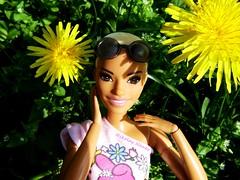 Dandelion Queen (Nickolas Hananniah) Tags: barbiefashionistas barbiedoll fashiondoll garden park dandelion green spring doll toy collectabledoll collector madetomovebarbie