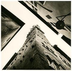 (Marianov.) Tags: luka italy tower city building cityscape lines geometric film analog analogue 120 6x6 mamya 6 mf mamiya6 mamiya6mf 50mm kodak trix 400 darkroom wet print with lithprint black white photography mood bw