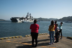 USS Bonhomme Richard Departs Sasebo for the Last TIme (SurfaceWarriors) Tags: bhr ctf76 homeportshift ussbonhommerichard sasebo japan
