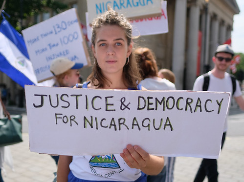 From flickr.com: Justice and Democracy for Nicaragua. {MID-302679}