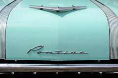 The Pontiac Grille - 1956 Pontiac Detail (Brad Harding Photography) Tags: hoodornament hood grille 1956 56 pontiac gmc generalmotorscorporation antique vintage classic chrome detail closeup bassproshop olathe kansas carshow pontiacdays