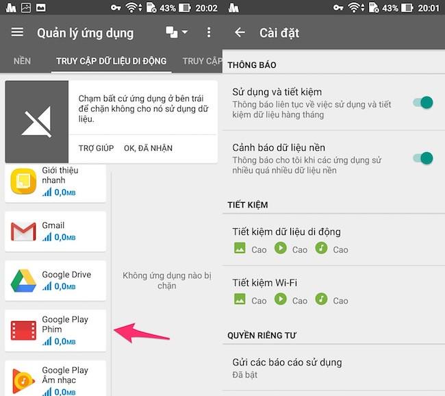 Quản lý quyền sử dụng mobile data bằng ứng dụng Samsung Max