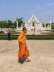 White Temple (cattan2011) Tags: religion culture buddhism whitetemple temple chiangrai thailand traveltuesday travelphotography travelbloggers travel streetpicture streetphoto streetphotography landscapephotography landscape streetart monk 泰国