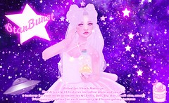 {SBB} StarBurst @ Something Extra (Cakettes) Tags: secondlife catwabento catya femboy femboi vendor event vtech kawaii galaxy cake space stars star magical magicalboy trap moon sailormoon pink dicku purple pastel