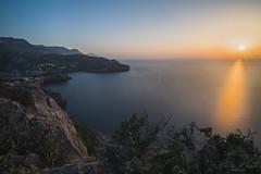 Sunset above Port de Sóller 3 (T. Kaiser) Tags: balearen spanien spain mallorca portdesóller portdesoller haven landscape sonyilce7rm3 fe1635mmf4zaoss ƒ220 mittelmeer wasser langzeitbelichtung longexposure bucht sunset