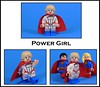 Power Girl (-Metarix-) Tags: lego super hero minifig power girl custom dc comics comic pad printed madness superman cousin earth 2 kara zor el supergirl alternate