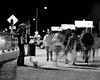 In a rush (@thegrainiac) Tags: las vegas street accordion black white night performer pentax 67 kodak film tri x 400 xtol home developed 1600 6x7 negative 120 medium format