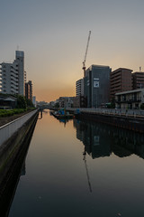 Sunset (akiharukas) Tags: water sunset river cityscape tokyo japan architecture wideangle sony a7rm3 a7riii sky blue