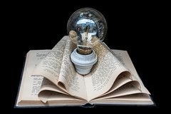 Reading enlightens (Phototravelography) Tags: andalucía andalusia andalusien córdoba guruke spain spanien spanish art book bright bulb furniture graphic insight knowledge letters light metaphore reading wisdom
