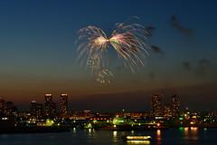 Butterfly in the sky(空の上の蝶々) (daigo harada(原田 大吾)) Tags: yokohama kaikou festival view landscape firework light