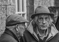 Watching me closely (Frank Fullard) Tags: frankfullard fullard candid street portrait monochrome blackandwhite horsefair fair ballinasloe galway irish ireland elderly man gentleman hat suspicious