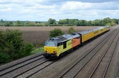 67027 67023 aa Cossington 240817 D Wetherall (MrDeltic15) Tags: colas class67 67027 networkrail testtrain 67023 cossington midlandmainline