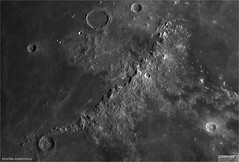 Montes Apenninus and the Moon's Tallest Mountain (The Dark Side Observatory) Tags: tomwildoner night sky space outerspace skywatcher telescope esprit 120mm apo refractor celestron cgemdx asi190mc zwo astronomy astronomer science canon crater moon lunar weatherly pennsylvania observatory darksideobservatory leisurelyscientist leisurelyscientistcom tdsobservatory solarsystem montes apenninus huygens mountains march 2018
