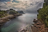 (195/18) Hacia mar abierto (Pablo Arias) Tags: pabloarias photoshop photomatix capturenxd españa cielo nubes paisaje agua mediterráneo calagaldana árbol menorca costa