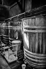Soy sauce (GavinZ) Tags: asia japan kyoto travel soysauce barrel shop matsuno bw bnw blackandwhite exoplore