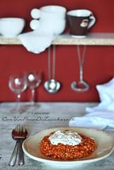 Risotto pomodoro e burrata (conunpocodizucchero) Tags: risotto pomodoro burrata cheese italianfood