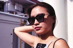 In The Sun (OzGFK) Tags: asia singapore tiongbahru film analog nikon nikkor 35mm fujisuperia800 fuji sunnyday sunglasses elegant pretty beautiful daytime sunlight urban streetphotography residential