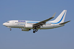 Boeing B737-7K5(WL) - D-AHXJ - HAJ - 18.04.2018 (Matthias Schichta) Tags: hannoverlangenhagen haj eddv planespotting aircraft flugzeug wingsoflebanon boeing 737700 dahxj