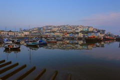 Early morning harbour (Steve M Photography) Tags: brixham devon earlymorning sunrise dawn waterreflections harbour seaside resort holiday fishingport boats getaway relaxing