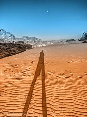Fly me to the Moon. HDR (kud4ipad) Tags: 2016 jordan wadirum hdr desert evening sand moon shadow mountain sky