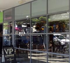 VIP Lounge (boeckli) Tags: windows windowwednesdays window fenster shopwindow viplounge reflection reflections spiegelung manly sydney australia lines squares dwwg