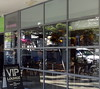 VIP Lounge (boeckli) Tags: windows windowwednesdays window fenster shopwindow viplounge reflection reflections spiegelung manly sydney australia lines squares dwwg