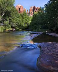 Gently Flowing (Ray Chiarello) Tags: oakcreek cathedralrock sedona arizona creek stream water southwest canon5dmarkiii longexposure canonef1635mmf4lisusm neutraldensity