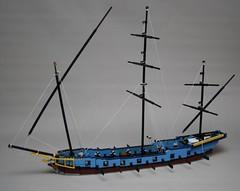 Polacre xebec WIP (Beorthan) Tags: bobs eurobricks lego corrington ship moc