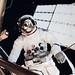 Astronaut Jack R. Lousma, Skylab 3 pilot, participates in the Aug. 6, 1973, extravehicular activity. Original from NASA. Digitally enhanced by rawpixel.