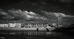 __[][][][][][][][][][]__ (Kevin HARWIN) Tags: water sea beach sand rocks stones buildings flats sky clouds black white canon eos 70d 1755mm lens herne bay kent south east uk engalnd britain