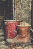 Calke Gardeners Store (Jamarem) Tags: calkeabbey derbyshire nationaltrust canoneos70d boots abandoned fire bucket matte