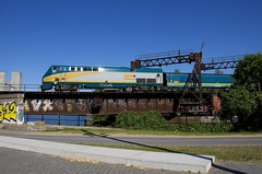 Back from the dead (Michael Berry Railfan) Tags: via901 via37 viarail montreal peelbasin sthyacinthesub train passengertrain ge generalelectric genesisseries p42dc renaissancecars
